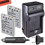 #10: BM Premium Pack Of 2 EN-EL5 Batteries & Battery Charger Kit for Nikon Coolpix P80 P90 P100 P500 P510 P520 P530 Digital Camera + More!!