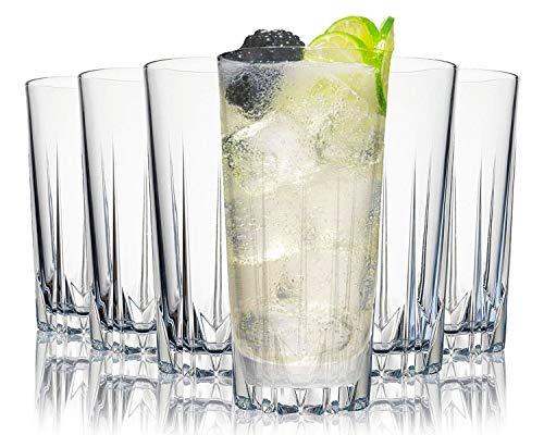 Tivoli Miami Saftgläser - 330 ml - Set aus 6 - Hochwertige Gläser - Spülmaschinenfest - Kristallgläser