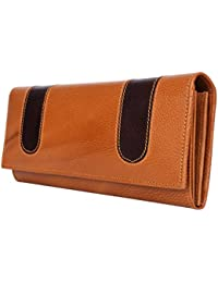 Yark Genuine Leather Ladies Hand Wallet With 6 Cards Slot (8021-Tan)