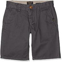 Quiksilver everydhay pantalón corto para niño, Niño, Everydhay, gris oscuro, 12