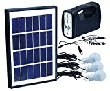 Tapetum Solar Home and Out Door Led Light Portable Emergency Lights Inbuilt Rechargeable Battery, 10-Watt Solar Generator Portable kit,Power Inverter,Solar Lighting System for Home & Camping and LED Scoket