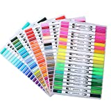 100 Colors Watercolour Dual Brush Pens Dual Tips Art Marker Soft Flexible Tip