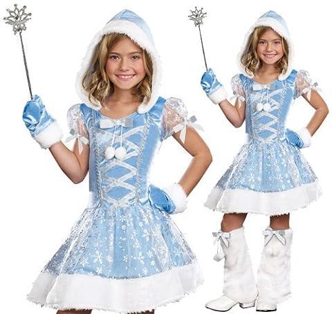 Snowflakes Costumes For Kids - SugarSugar Kids Snowflake Princess Costume, Large, 4-Piece