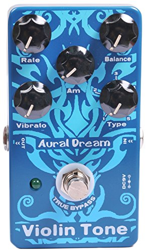 Aural Dream Violin Tone Synthesizer Guitar Effects Pedal including harmonic violin,concert violin,solo violin 8'and violin 8' with vibrato module control