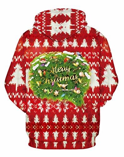 FOURSTEEDS Damen Sweatshirt Christmas Red