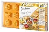 Birkmann 253018 Keks-Konfekt Sommer-Motive, zwei Plätzchenformen aus Silikon mit Teigkarte
