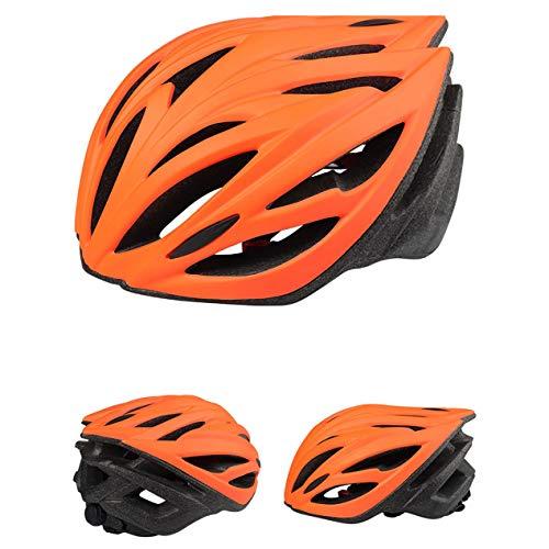 ZYSQTK Fahrradhelm Erwachsene Skaterhelm MTB rollerhelm Fahrradhelm Integrierter Mountainbike Rennradhelm, Orange