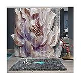 AieniD Badezimmer Deko Set Blühende Blumen Mehrfarbig Bad Vorhang Size:120X180CM