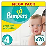 Pampers Premium Protection Taille 4 ( 8-16kg ) Pack de 78
