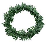 Deko Buchsbaum Ringe Kränze 6 Stück Kunststoff grün Ø 10cm Tischdeko Hochzeit Kommunion Konfirmation Dekokranz Tischkranz grüne Buchs Kränzchen Trauung