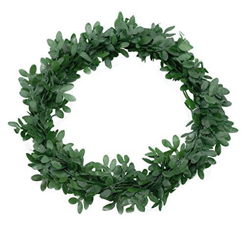 Deko Buchsbaum Ringe Kränze 6 Stück Kunststoff grün Ø 10cm Tischdeko Hochzeit Kommunion Konfirmation Dekokranz Tischkranz grüne Buchs Kränzchen Trauung (Buchsbaum Hochzeit Ring)