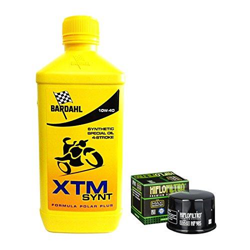 Kit tagliando Bardahl XTM Synt 10W40 filtro olio Yamaha T-Max 500 530 Xcit