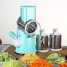 wcwwfn Cortador de Verduras con Queso de Mano Multifuncional cortadora picadora trituradora de Rodillos Rodillos de
