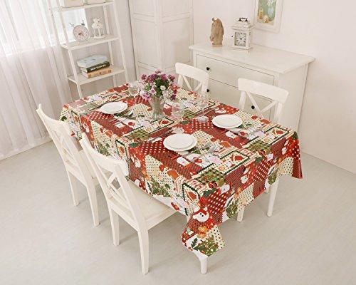 Vynilla - Mantel de Navidad de vinilo, hule - Large(240x140cm)