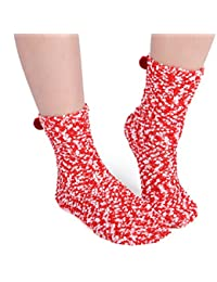 ChicNChic Ladies Fuzzy Warm Cute Socks Soft Anti-slip Fuzzy Slipper Socks Christmas Gift