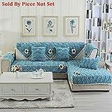 lovecover Plüsch Sofa möbel protector für haustiere kinder Ganze saison Anti-rutsch Schnittsofa werfen abdeckung pad Sessel schoner L-form Couch abdeckung-1 stück-A 35x47inch(90x120cm)