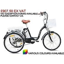 "Jorvik 24"" Eléctrico Triciclo 36V 250 w- ADULTOS E Trike - Disponible en varios colores - Verde"