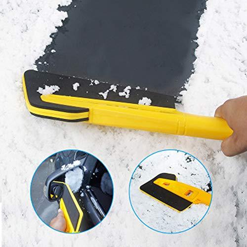 znwiem 2-In1 Auto Schneebürste Abtauen Eiskratzer Auto Fenster Schneeräumung Wischer Schutz Scheibenpflege Werkzeug