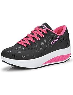 Damen Sneaker Schuhe Sportschuhe Mädchen PE-Turnschuhe Frauen Fitness-Shake Schuhe