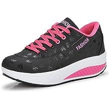 Señoras Atlético Zapatos Chicas Zapatillas Mujer Aptitud Sacudir Zapatos