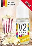 V2 Vape Popcorn AROMA/KONZENTRAT hochdosiertes Premium Lebensmittel-Aroma zum selber mischen von E-Liquid/Liquid-Base für E-Zigarette und E-Shisha 10ml 0mg nikotinfrei