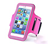 N+ INDIA Samsung Galaxy J5 (2016) Fancy Sports Armband, Black Gym,Running, Jogging,Walking,Hiking,Workout and Exercise Armband Holder For Galaxy J5 (2016)with Extra Adjustable-Length Extension Band Pink