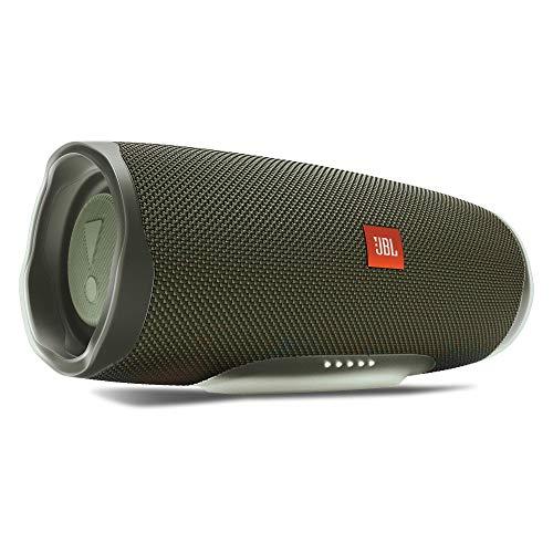 JBL Charge 4 Bluetooth-Lautsprecher in Grün, Wasserfeste, portable Boombox mit integrierter Powerbank, Mit nur einer Akku-Ladung bis zu 20 Stunden kabellos Musik streamen