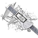 Digitaler Messschieber IP54, 150mm Messwerkzeuge Hochpräzise Schieblehre Rostfreier Edelstahl Meßschieber Noniusschieber LCD Bildschirm für industrie Messung und Labor