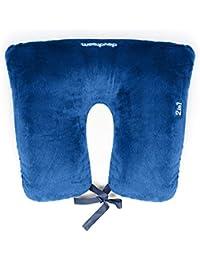 Daydream 2en 1, Color Azul almohada de viaje, con microperlas