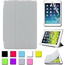 Besdata® Funda Carcasas diseñado poliuretano para Apple iPad mini Apple iPad Smart Cover (IPad mini Gris) - PT2508