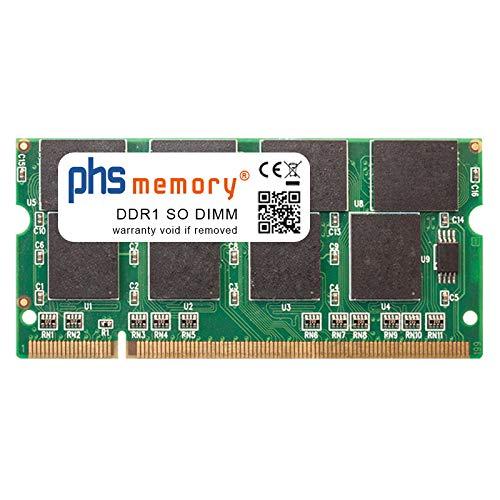 PHS-memory 1GB RAM Speicher für Acer Ferrari 4006WLMi DDR1 SO DIMM 333MHz PC2700S - 4006wlmi Speicher Ram