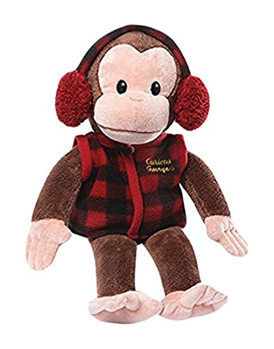 Curious George In Plaid Vest Stuffed Animal Plush by Curious George