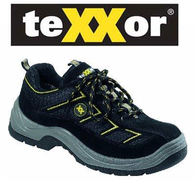 teXXor Sicherheitsschuhe S1 Metz leichte Arbeitsschuhe, 43, schwarz, 6113