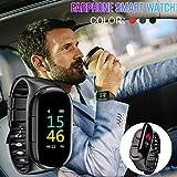 TOMATION 2 in 1 Smartwatch mit TWS kabellosen Bluetooth-Kopfhörern,M1 AI Armband Und TWS Earbuds,Blut pulsmesser kcal Sport smart Armband Lange Zeit Standby