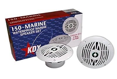 KDX Audio kin183147–Kit de Haut-parleurs Marins (90W, 80–22000Hz) Blanc de Kdx Audio
