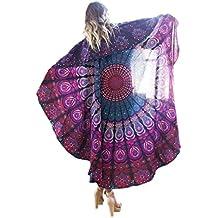 Bigood Tapisserie Ronde Hippie Mousseline de Soie Foulard Plage Couverture  Serviette Nappe Yoga fa9517ed509