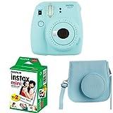 Fujifilm - Instax Mini 9 - bleu glace - appareil seul + 2x10 films + Housse