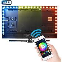 Kreema 3M WIFI USB RGB 5050SMD 90 LED Luz de tira Control de aplicaci¨®n inteligente Luz de fondo de TV flexible Luz de tira con control remoto