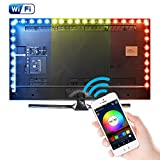 Kreema 5M WIFI USB RGB 5050SMD 150 LED Streifen Licht Smart App Steuerung Flexible TV Hintergrund Streifen Licht mit IR-Fernbedienung