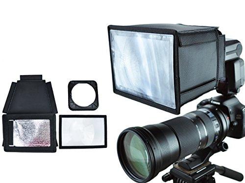 Flash Multiplier / Blitzreichweiten Verlängerungsbox für größere Systemblitze z.B. Canon Speedlite 540/550 EX, Sony HVL-F58AM, Nissin DI 622, Metz 64 AF-1, Pentax AF-540 FGZ u.v.a.