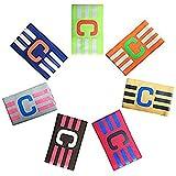 Adesugata Fußball Captain Armband,Fußball Elastic Armband, Klettverschluss für verstellbare Größe, geeignet für mehrere Sportarten wie Fußball & Rugby