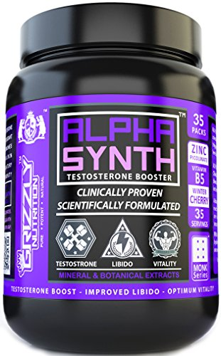 Grizzly Nutrition Alpha Synth Testosterone Booste (Sweet Lime, 50 Packs)