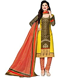 Zaffaz Unstitched Cotton Dress Material Free Size and Delivery JK1004