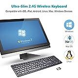 Vitalitim 2.4Ghz Full-size Ergonomic Wireless Keyboard for Desktop PC Lunix Windows Mac IOS Google Android TV - UK Layout