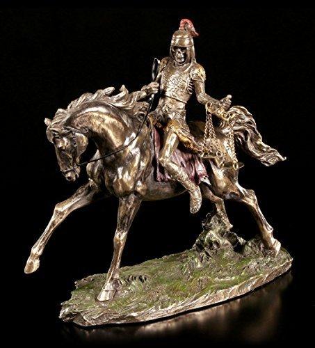 Apokalyptischer Reiter Figur - Tod & Hunger | Veronese Statue Skelett Bronze-Optik