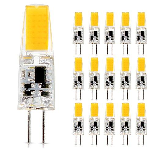 G4 1505 12V AC/DC 2.5W Bi-Pin Glühlampe Warmweiß COB LED Birnen Lampen Scheinwerfer Mini Silikon Licht (15Stück 2.5W 3000k) - 12v Ac Halogen-glühlampen