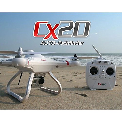 Profi Drone Video Foto HD Kamera CX-20 Follower Quadcopter mit Gyro, 2,4GHz GPS und Kamera Headless Mode und One Key Return LED