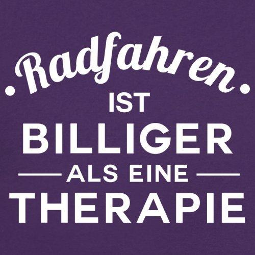 Radfahren ist billiger als eine Therapie - Damen T-Shirt - 14 Farben Lila