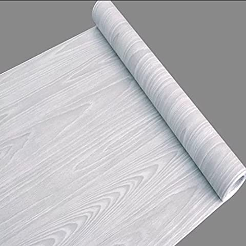 LoveFaye Light Gray Wood Grain Contact Paper Self Adhesive Shelf