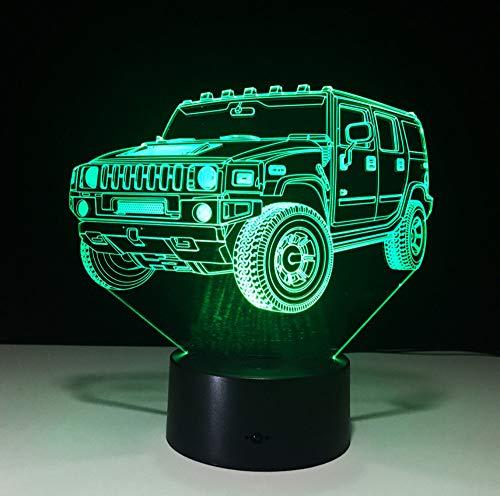 Hummer Neuheit 3D Lampe LED Nachtlicht Batterie Mini LED Lichter Batteriebetriebene LED USB Nachtlampe Kinderzimmer